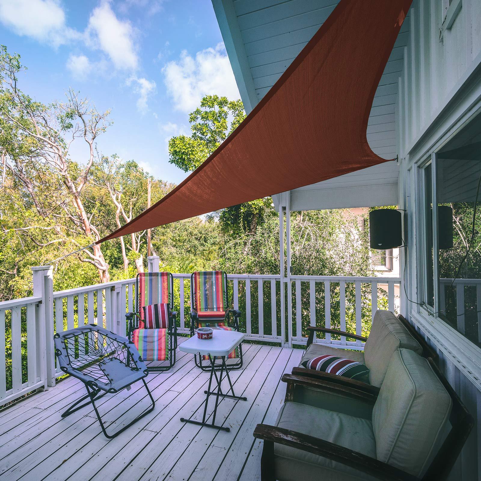 BB Sport Toldo Vela 3m x 3m x 4.24m Terracota Triangular HDPE Vela Sombra Protección Rayos UV 90% Transpirable: Amazon.es: Jardín