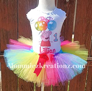 Inspired Pig Tutu, Pig Rainbow tuut Outfit, Pig Birthday