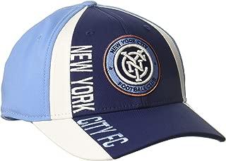 adidas Adult Men Cut 'N Sew Curved Visor Flex, Navy/Blue, Large/X-Large