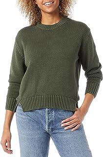 Amazon Brand - Daily Ritual Women's 100% Cotton Chunky Long-Sleeve Crew Sweater