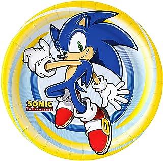 BirthdayExpress Sonic The Hedgehog Party Supplies - Dinner Plates (8)