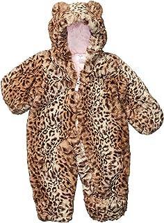 Carter's Baby Girls' Leopard Eared Hooded Pram Suit