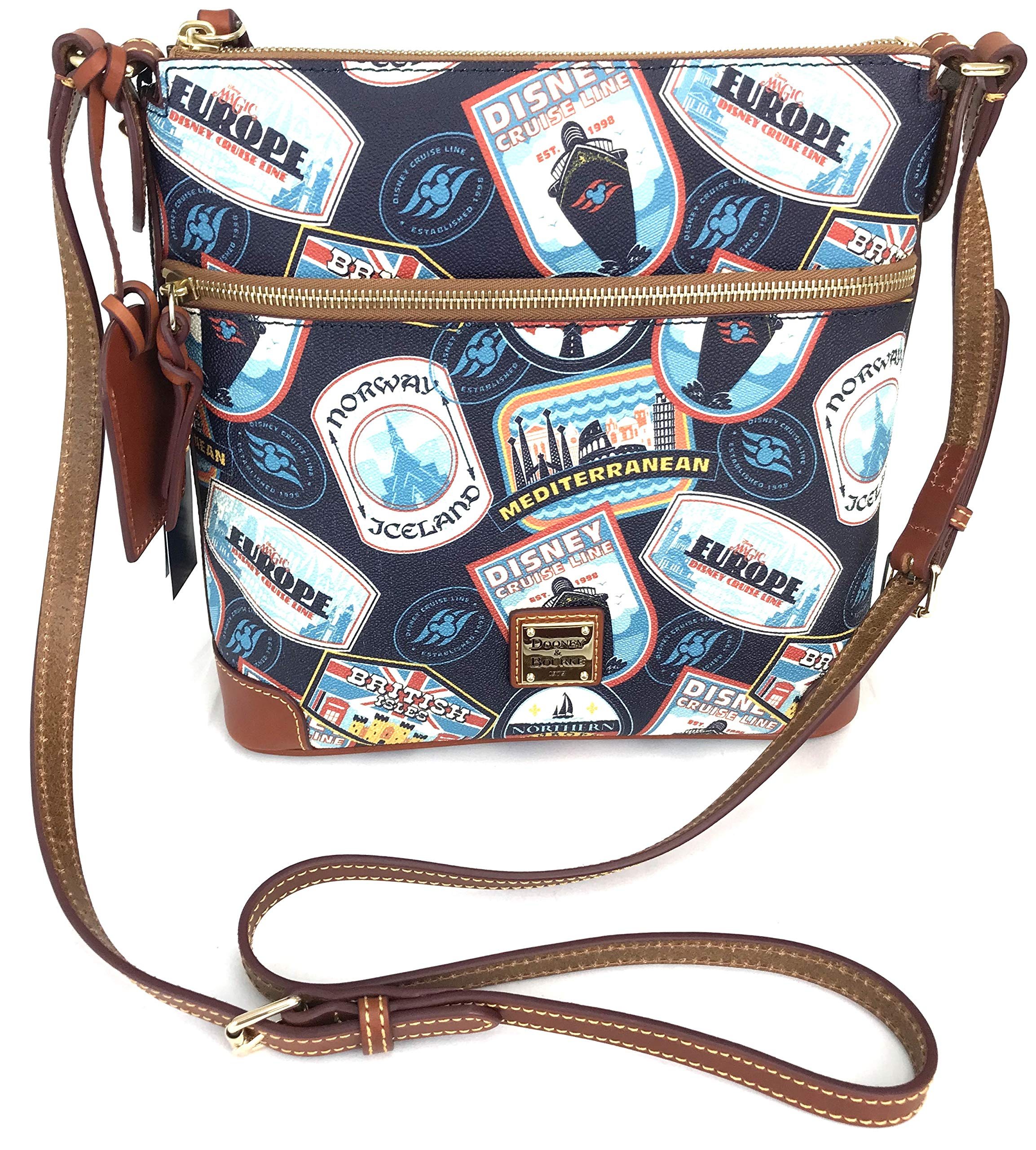 Dooney and Bourke Disney Cruise Line DCL Itinerary Crossbody Purse Bag