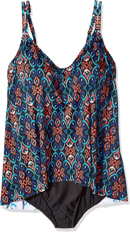 ae04941de40 Shape Solver Womens Swimsuit Tapestry Princess Seam Fauxkini Plus ...
