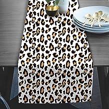 RADANYA Animal Print Taffeta Silk Table Runner Wedding for Home Kitchen Birthday Party 14x72 Inches