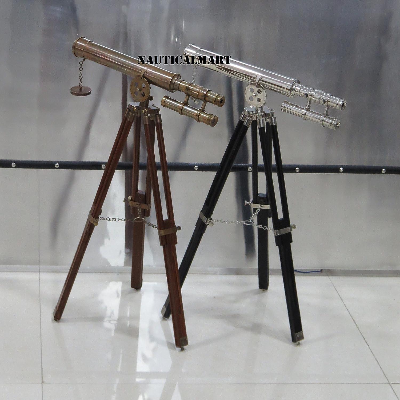Nautical Brass Navy Tripod Harbor Master Telescope Set Of Two Nauticalmart