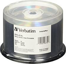 Verbatim DVD+R DL 8.5GB 8X DataLifePlus Shiny Silver Silk Screen Printable - 50pk Spindle