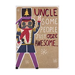 Christmas Card for Uncle from Hallmark - Funky Nutcracker Design