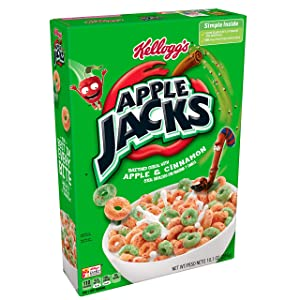 Apple Jacks Kellogg's Breakfast Cereal, Original, 10.1 Ounce