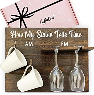 GIFTAGIRL Very Popular Sisters Gifts from Sister - Cheeky Sister Gifts from Sister or Brother are Funny Gifts for Sister B...