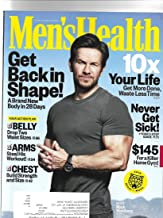 men's health magazine january/february 2018 {mark Wahlberg Cover} {Postal label on front}