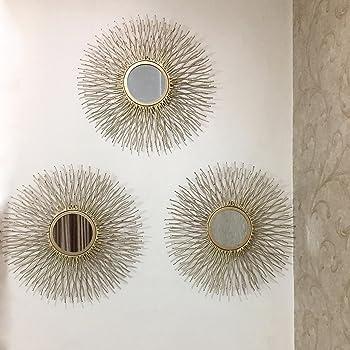 Flourish Concepts Metal Wall Mirror (Black_37 X 37 X 2)