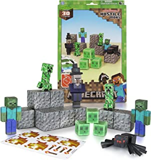 Minecraft Papercraft Hostile Mobs Set, Over 30 Piece