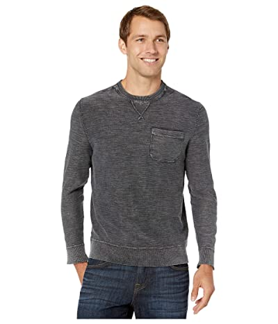 True Grit Sunwashed Combed Cotton Sweater Long Sleeve One-Pocket Sweatshirt (Vintage Black) Men