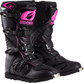 O'Neal Womens New Logo Rider Boot (Black/Pink, Size 9)