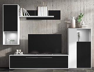 Mueble de salón Comedor módulos Estilo Moderno Color Negro