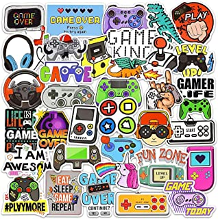 ELECDON Gaming Stickers for Kids, DIY Waterproof Vinyl Decal Stickers, Water Bottles Video Gamer Stickers for Laptop, Game...