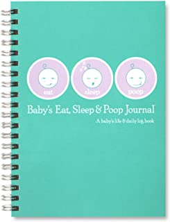 Baby's Eat, Sleep & Poop Journal, Log Book (Aqua)