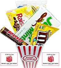 Movie Night Popcorn, Candy And Redbox Movie Gift Basket ~ Includes Movie Theater Butter Popcorn, Concession Stand Candy and a Gift Card for 2 Free Redbox Movie Rentals (Junior Mints)