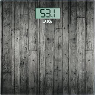 Laica PS1065N Bascula electronica madera oscura 180 kg