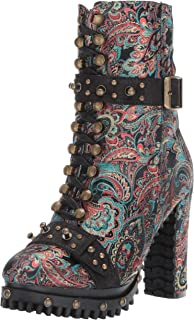 Penny Loves Kenny Women's Frier Fashion Boot, black baroque fabric, 6 Medium US