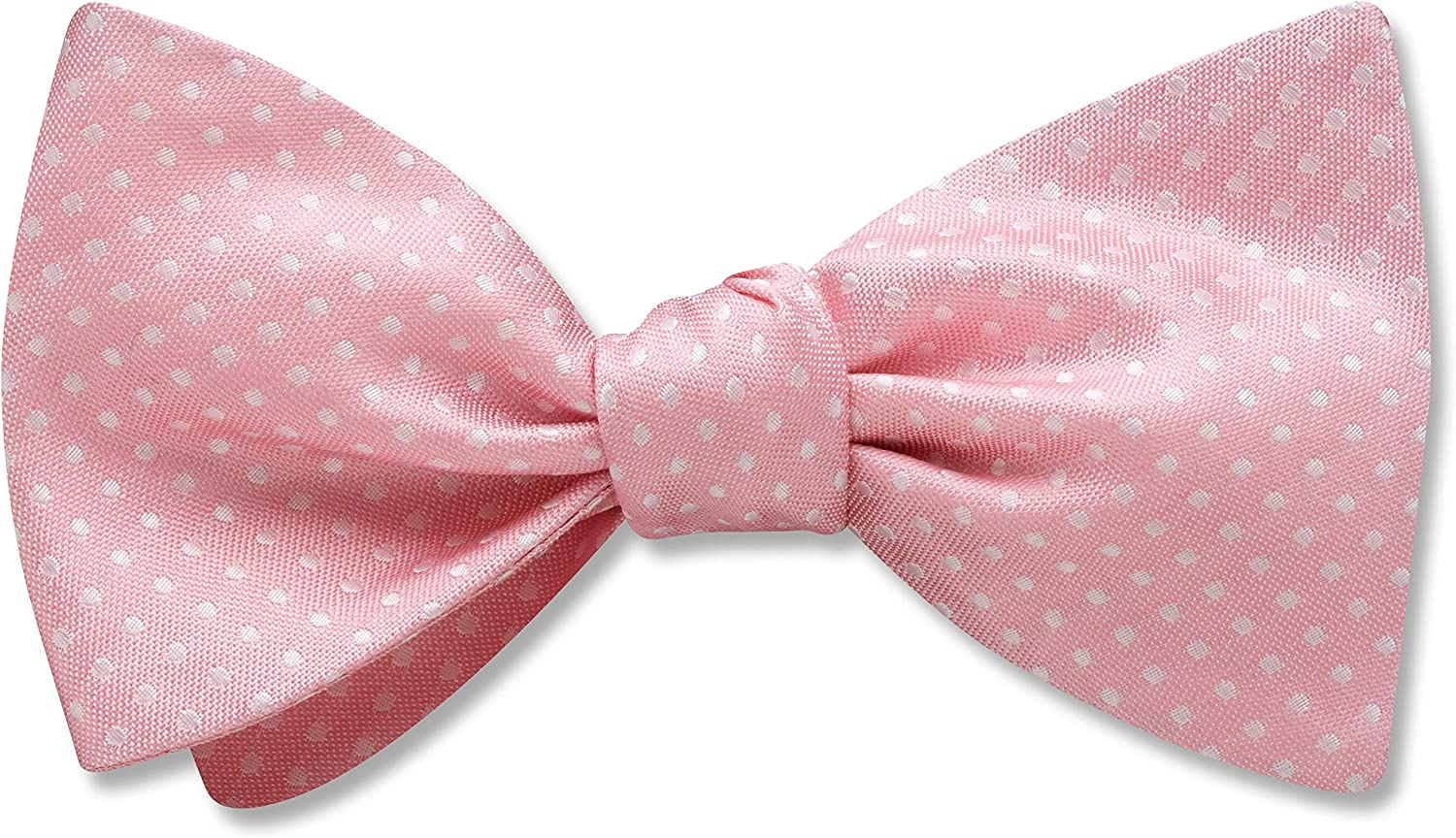 Oriel Pink Pink Polka Dot, Men's Bow Tie, Handmade in the USA