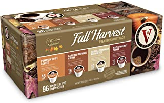 Victor Allen Coffee Fall Harvest Variety Pack Single Serve 96 Count (Compatible with 2.0 Keurig Brewers)