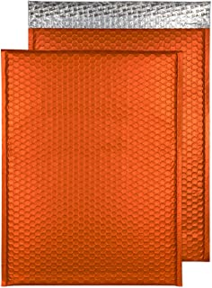 "Blake Matte Padded Bubble Mailer Envelopes Pack of 50 12 3/4"" x 17 3/4"" Pumpkin Orange"
