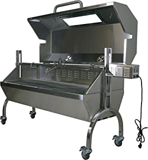 Titan Great Outdoors 25W Stainless Steel Rotisserie Grill Roaster w/Glass Hood