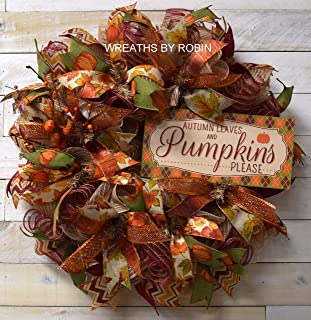 Fall Wreath, Pumpkin Wreath, Holiday Wreath, Deco Mesh Wreaths, Welcome to our home wreath, 4062