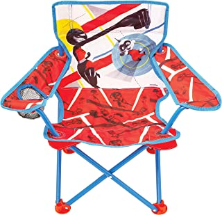 The Incredibles 2 Camp Chair for Kids, Portable Camping Fold N Go Chair with Carry Bag