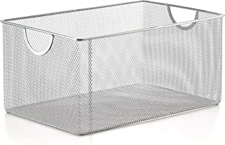 YBM HOME Household Wire Mesh Open Bin Shelf Storage Basket Organizer for Kitchen, Cabinet, Fruits, Vegetables, Pantry Items Toys 1116 (1, 12.1 x 7.8 x 5.8)