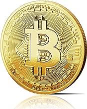 Moneda física de Bitcoin revestida en oro auténtico de 24 quilates. Una verdadera pieza de coleccionista, con estuche protector. Una adquisición obligada para todo fanático del Bitcoin
