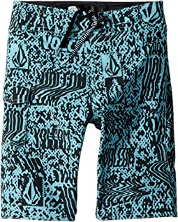 Volcom Kids - Logo Plasm Mod Boardshorts (Big Kids)