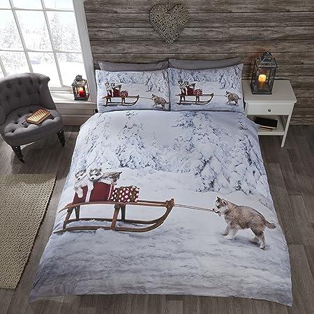 Rapport Huskies Duvet Set, Polyester-Cotton, Multi-Colour, King