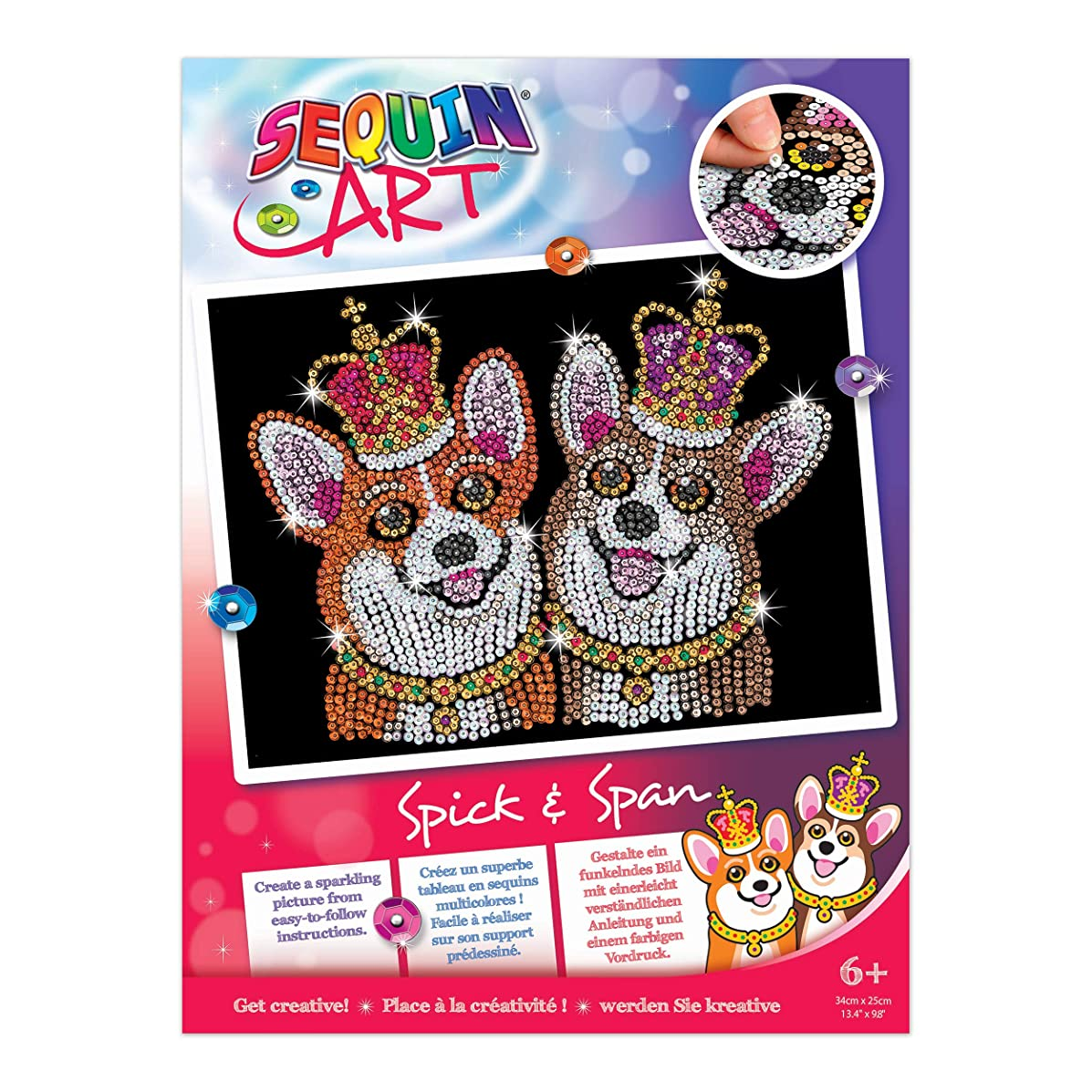 Sequin Art Red SPICK & Span The CORGIES Sparkling Arts and Crafts Kit