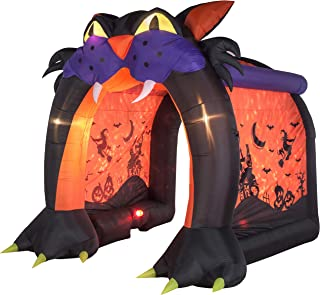 Gemmy Inflatable 9Ft. Projection Cat Tunnel Halloween Indoor/Outdoor Holiday Decoration