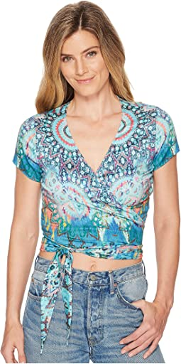 Room To Glow Stretch Satin Woven Top