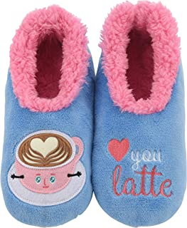 Pairables Womens Slippers - House Slippers - I Love You Latte