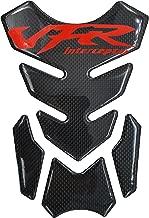 Red Real Carbon Fiber 3D Sticker Vinyl Decal Emblem Protection Gas Tank Pad For Honda VFR Interceptor