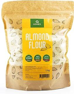 Mandelmehl 1kg, Glutenfrei 100%, Teilentölt Extra Fein Blanchiert Naturbelassen Mandelmehl
