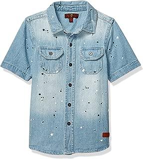7 For All Mankind Boys' Short Sleeve Shirt