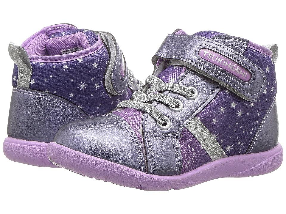 Tsukihoshi Kids Star (Toddler/Little Kid) (Navy/Purple) Girls Shoes