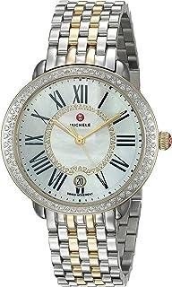 Women's Serein Two-Tone Stainless-Steel Swiss-Quartz Watch Strap, Silver, 16 (Model: MWW21B000032)