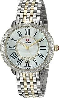 MICHELE Women's Serein Two-Tone Stainless-Steel Swiss-Quartz Watch with Strap, Silver, 16 (Model: MWW21B000032)