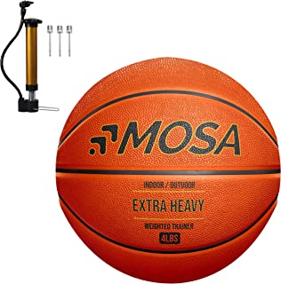 MOSA 4 LB Heavy Weighted Training Basketball for Indoor or Outdoor use (Official Size - 29.5 Inch)