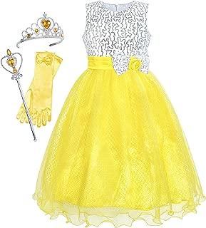 Sunny Fashion Vestidos Meninas Glitter Lantejoula Casamento Dama de honra Concurso 4-14 anos