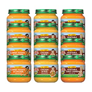 Earth's Best Protein Jars Variety Pack, 4 oz, 12 Count