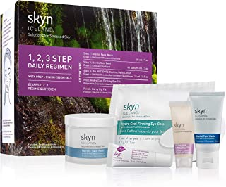 skyn ICELAND 1,2,3 Step Daily Regimen Kit: De-Stressing Skin All in One Kit
