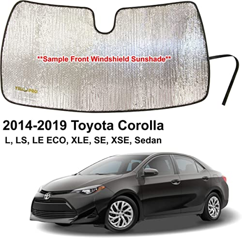 high quality YelloPro Auto Custom Fit Car Front Windshield outlet sale Reflective Sunshade Protector for 2014 2015 2016 2017 2018 2019 Toyota Corolla L LS 2021 LE ECO XLE SE XSE Sedan, Sun Shade Accessories, Made in USA online
